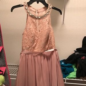 Sequin Heart Pink Homecoming Dress